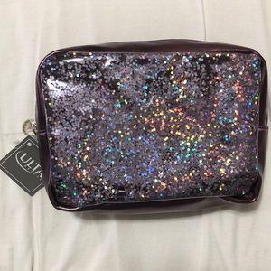 Purple toned Ulta Beauty Bling Sparkly Makeup bag